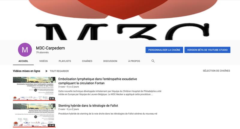 Chaine Youtube du M3C-Necker - CARPEDEM-M3C