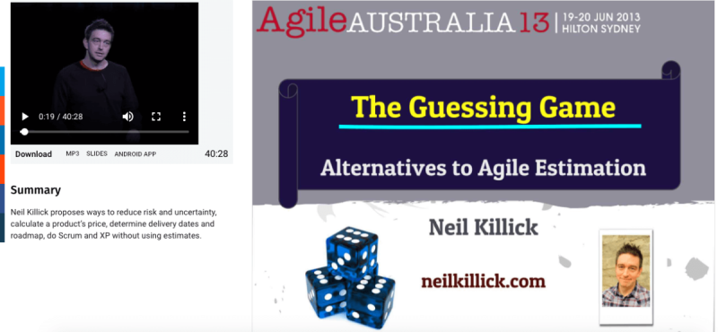 The guessing game - Alternatives to Agile estimation