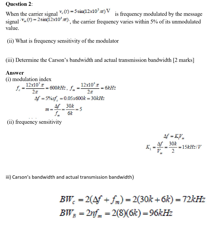 سؤال وجواب - Signals and Systems