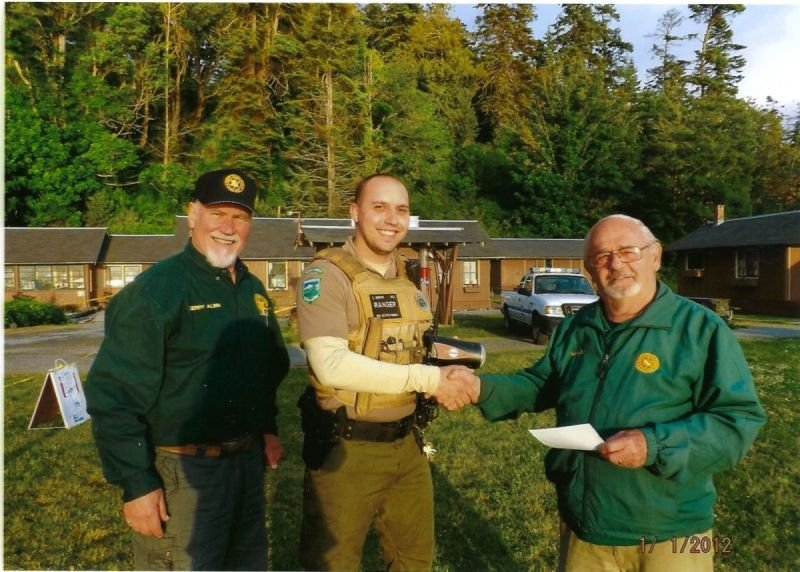 CLESF Presents Radar Gun to Camano Parks Ranger