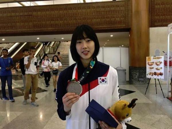 [아시안게임] 태권도 이아름, 여자 -57kg 급 은메달