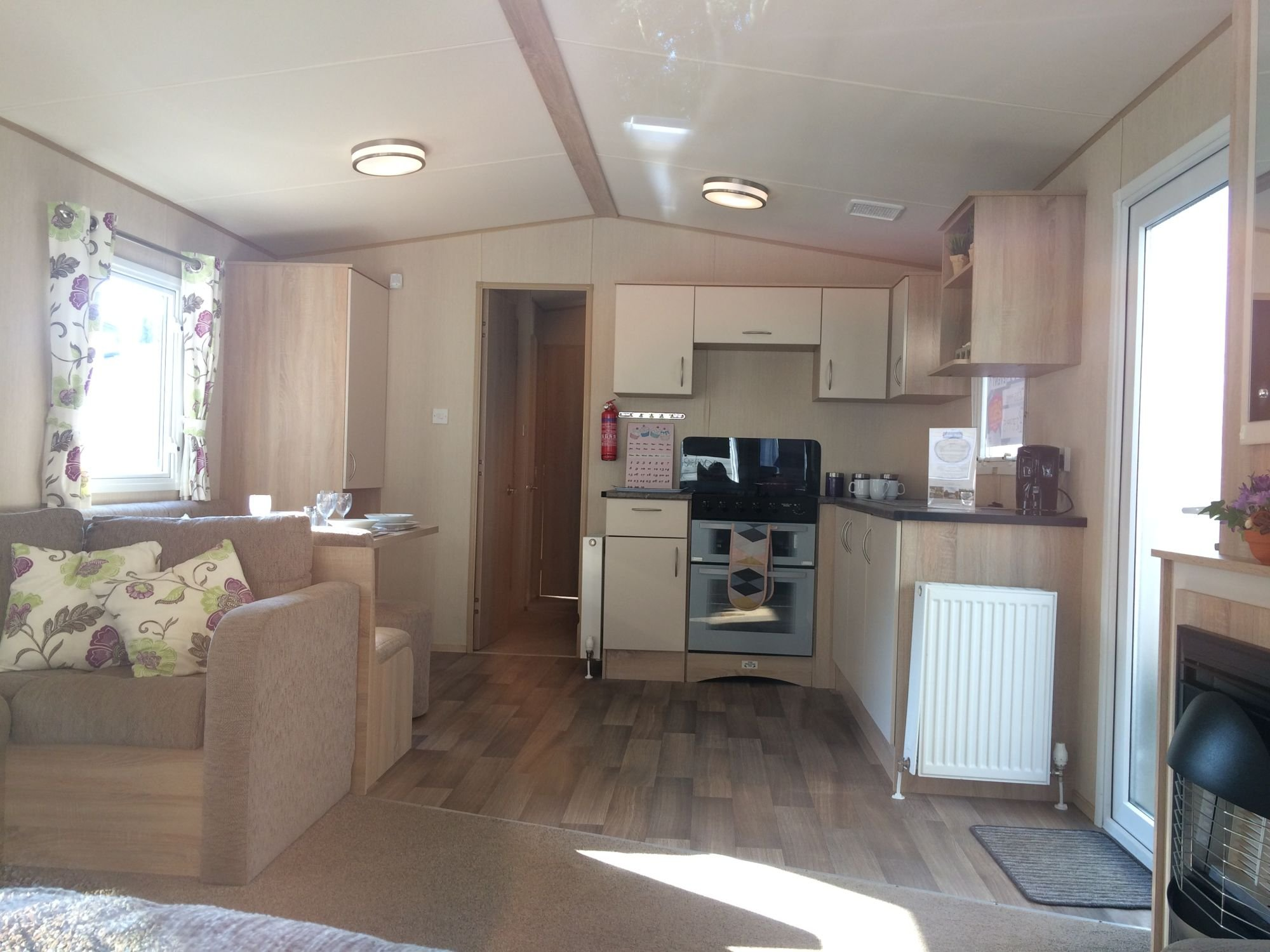 Kitchen area of our caravan for hire