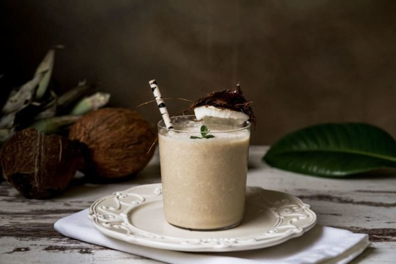 Kokosnuss-Eiskrem