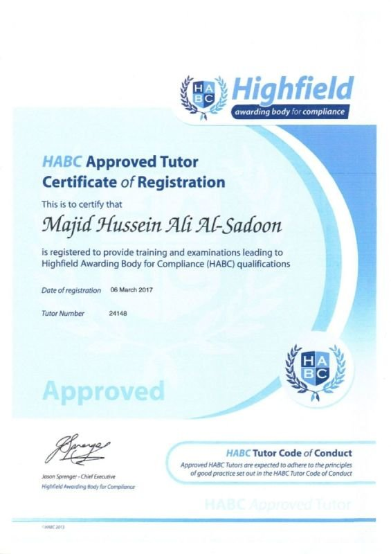 Highfield Approved Trainer