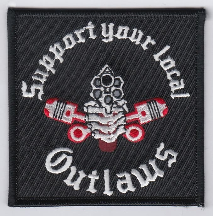 Newest outlaws patches embroidered iron on biker patches for the.