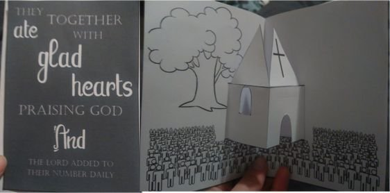 Acts Church Popup Card