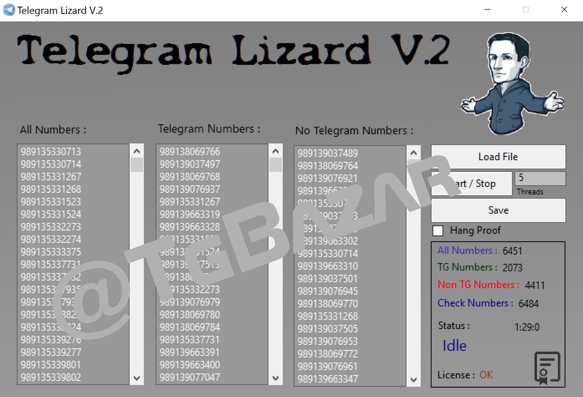 telegram lizard