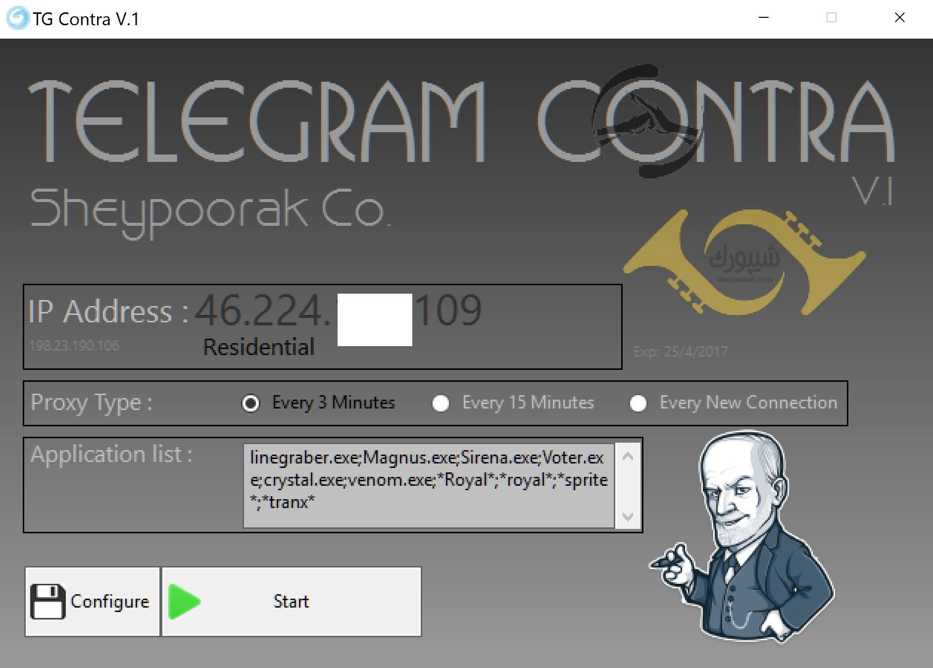 Telegram Network Contra (Dedicated IP Changer)