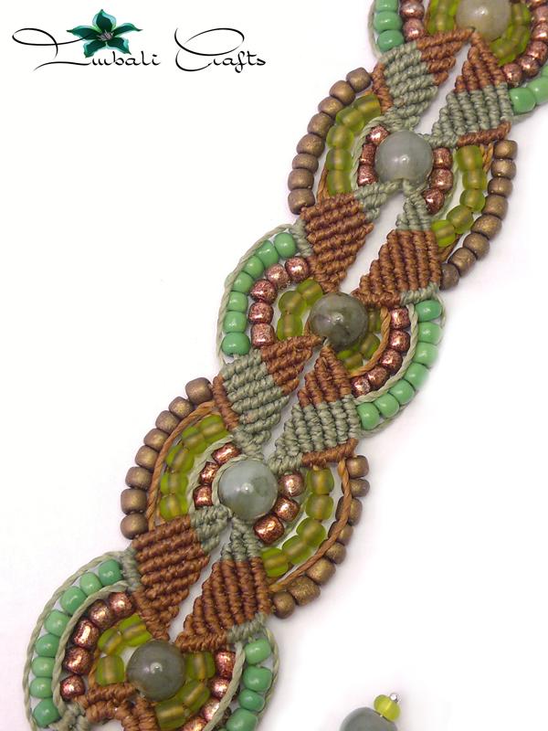 Linhasita necklace imbali crafts