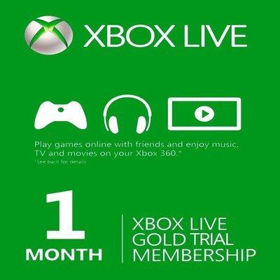 מותג חדש מנוי 1 חודש XBOX LIVE GOLD מיקרוסופט - OneBoxDigital VJ-45