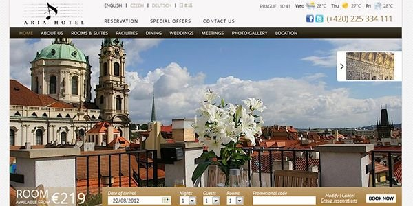 طراحی سایت شرکت Aria Hotel