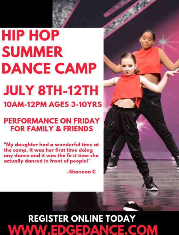 Hip Hop Summer Dance Camp (3-10yrs)