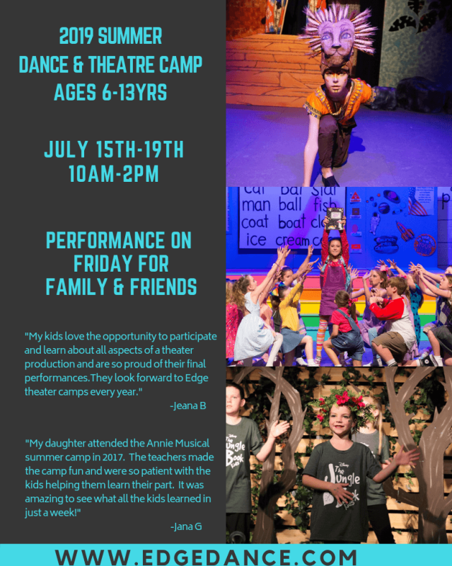 Dance & Theatre Camp (Ages 6-13)