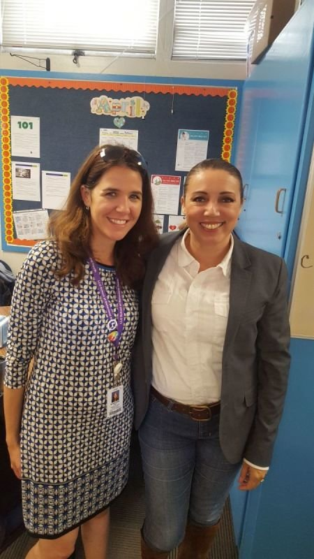 Maya & Ms. Ceballos at our partner high school
