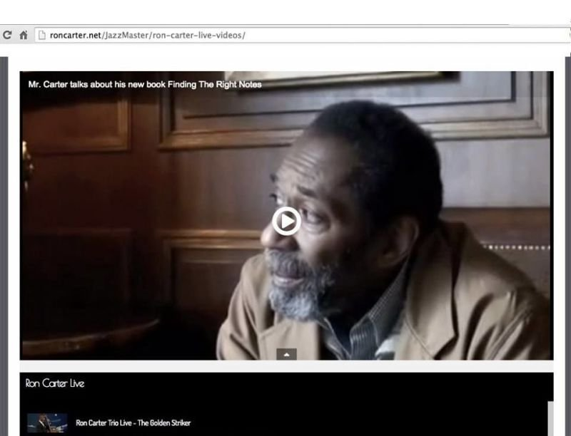 Ron Carter interview with UYS.