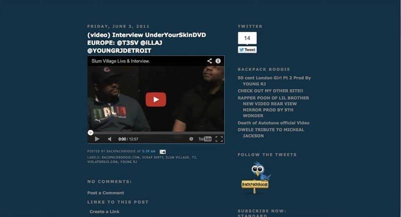 UYS Slum Village video on Backpackboogie