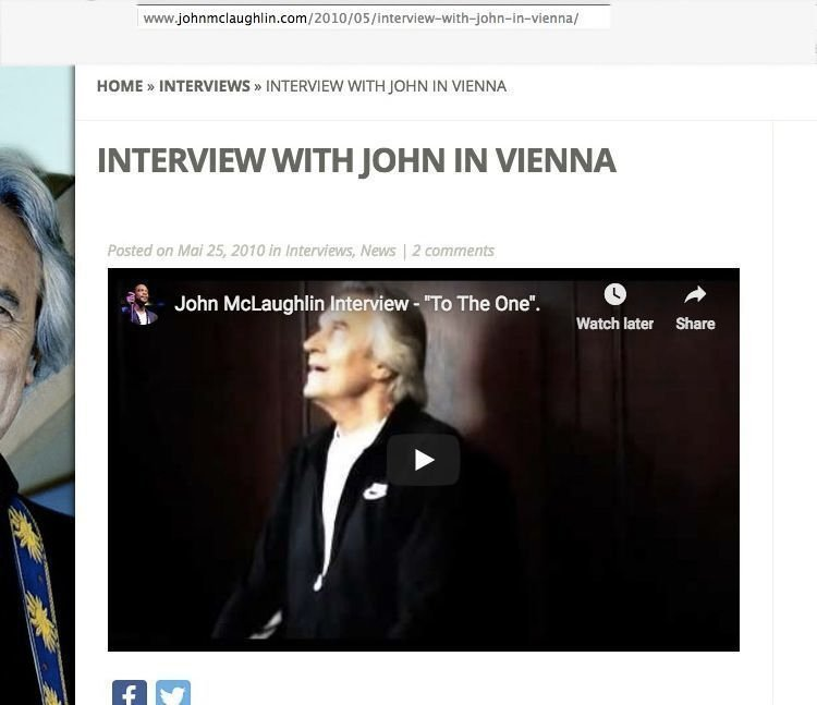 Interview with John McLaughlin