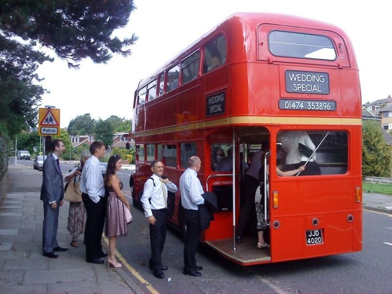 Passengers Boarding a Routemaster