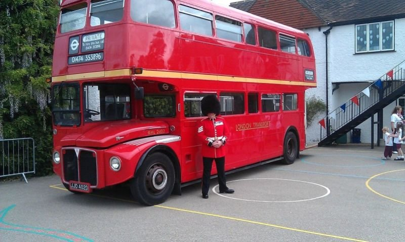 London Guard with Routemaster Bus