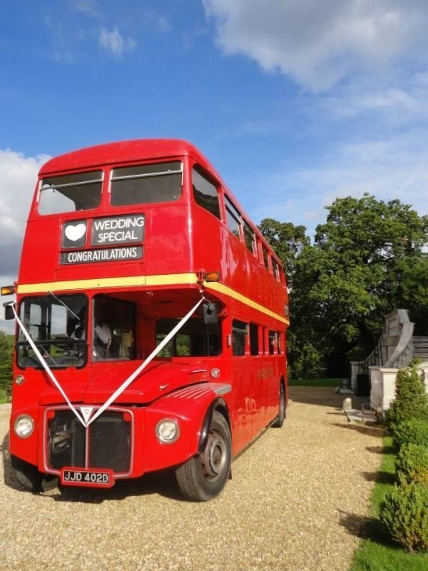 Routemaster Wedding Bus at Work