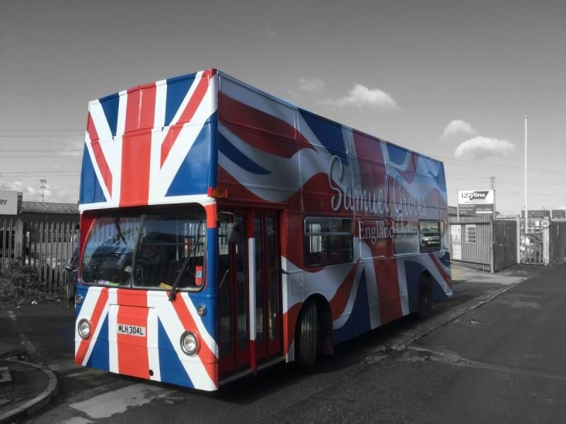 Union Jack Open Top Bus
