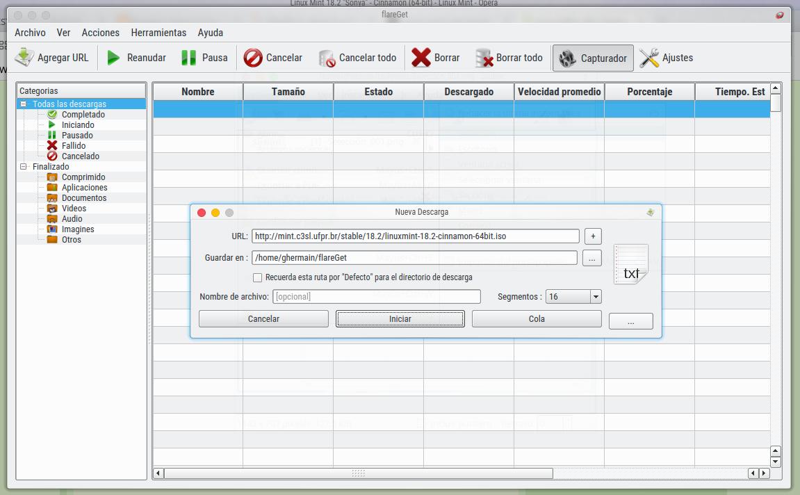FlareGet, un acelerador de descargas muy útil para impacientes - La ...