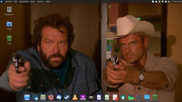 Xubuntu 18.10 Sepia Cósmica