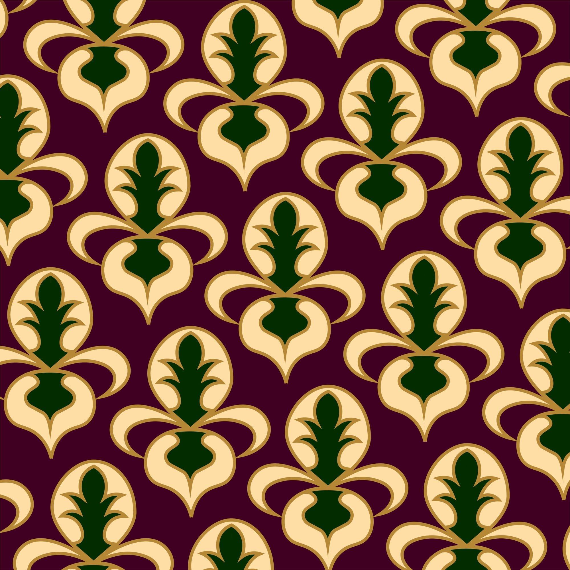 simple damask pattern - HD2000×2000
