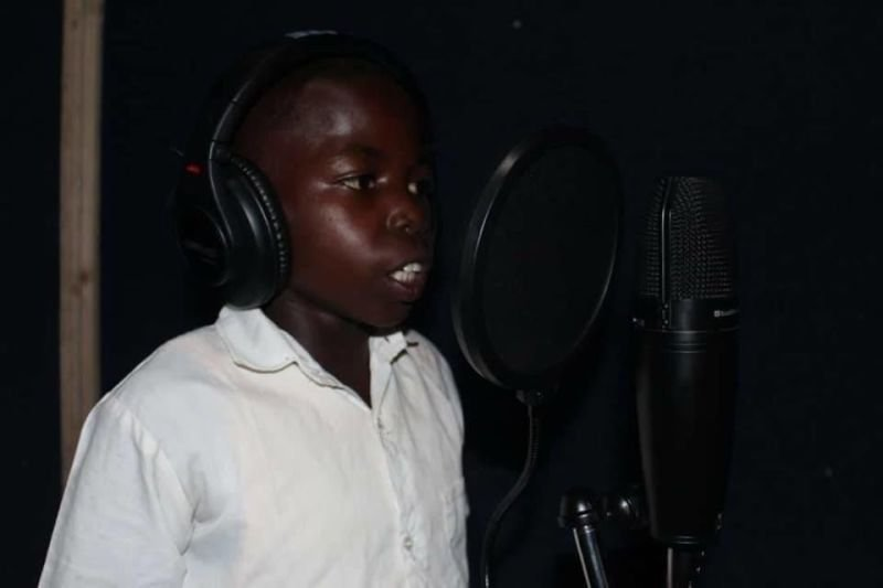 Peter Lokosang Voicing in Studio
