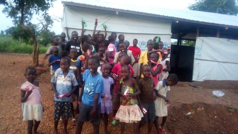 I CAN children at Bidibidi Refugee Camp
