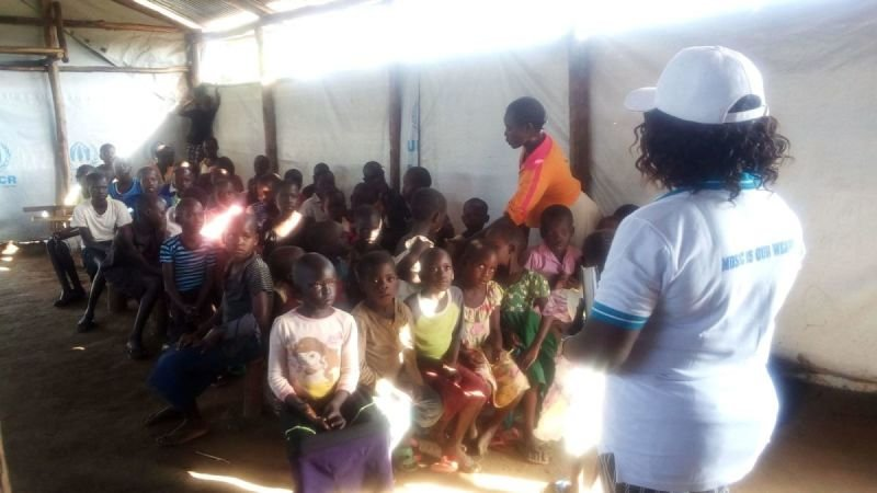 Apostle Grace Wenepai Enosa speaking to I CAN Children