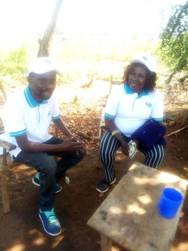 Apostle Grace Wenepai Enosa with Stephen Wandu in Bidibidi Refugee Camp