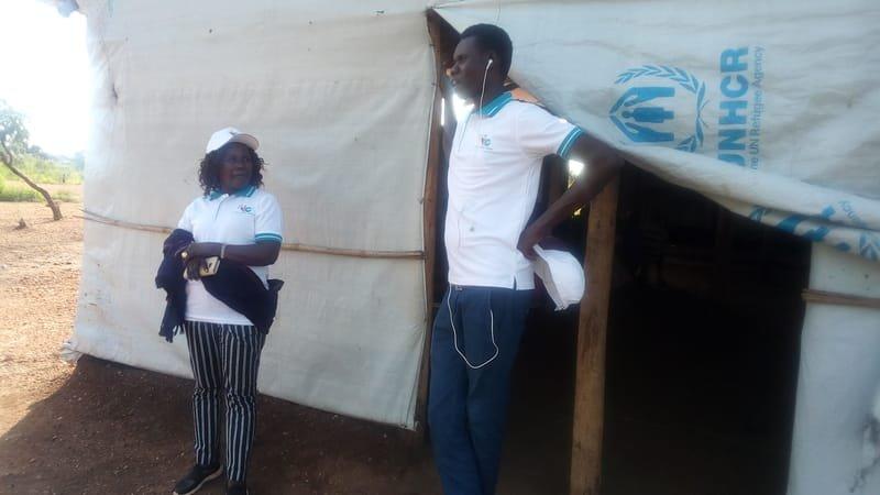 Apostle Grace Wenepai Enosa with Secretary Seme Ludanga
