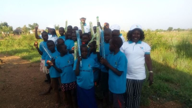 Apostle Grace donate Soap, Body Lotion and Drinks to I CAN children
