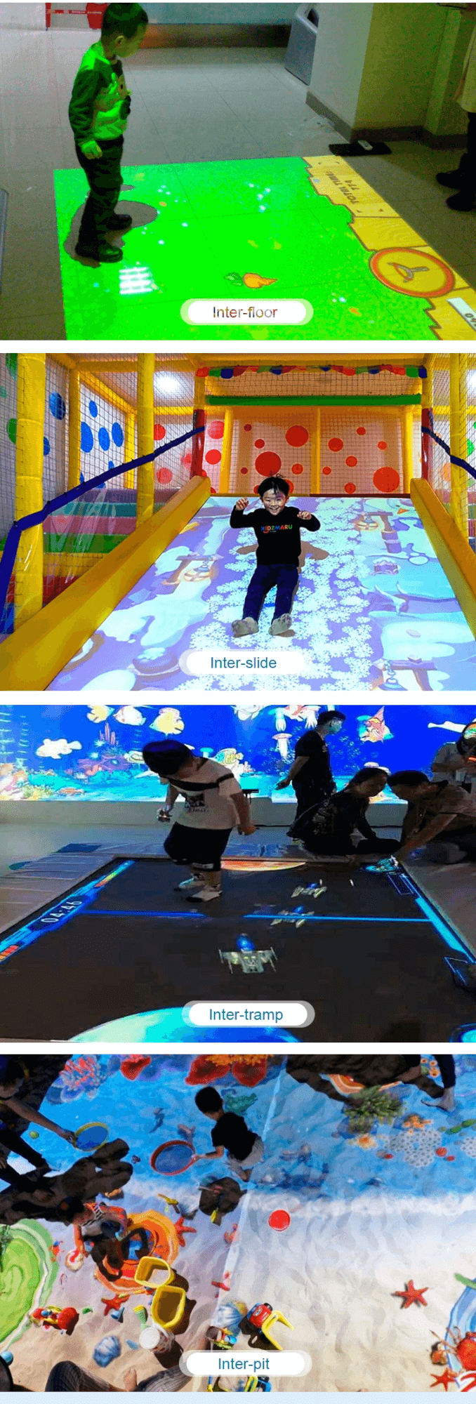 Interactive floor game projector interactive projection wall children game machine for sale