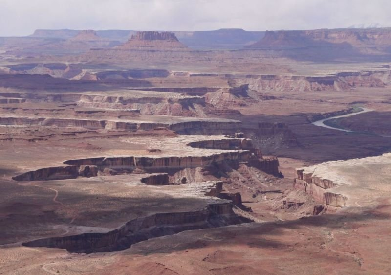 The White Rim in Canyonlands NP