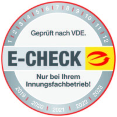 ...E-Check nur bei Innungsfachbetrieb Elektro Schneider