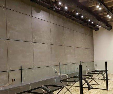 חיפוי קירות פנימיים בבטון אדריכלי