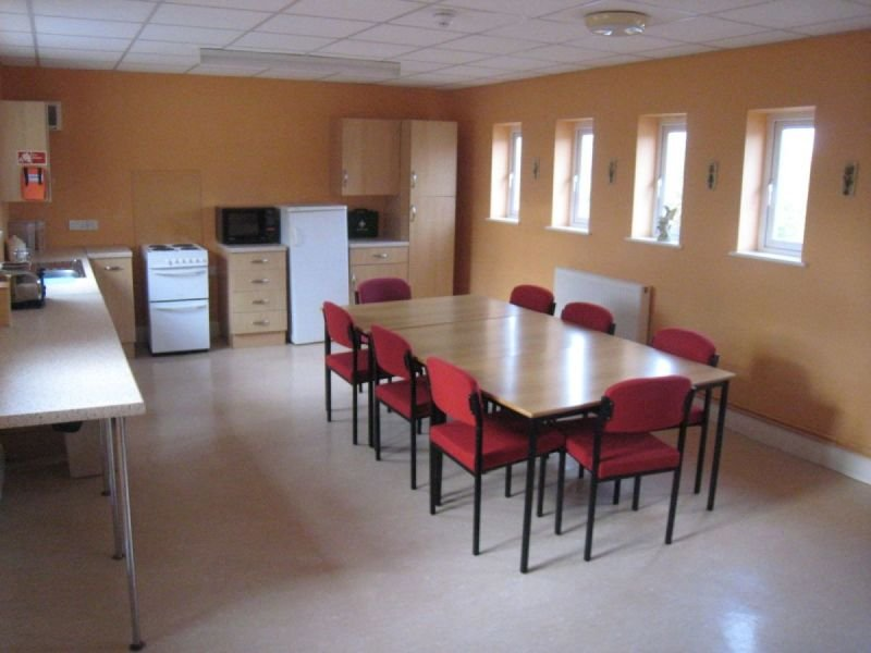 Kitchen and meeting room on every floor