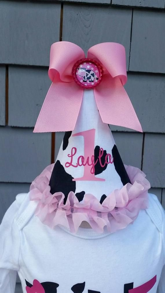 pink cow custom birthday hat kaylee s boutique