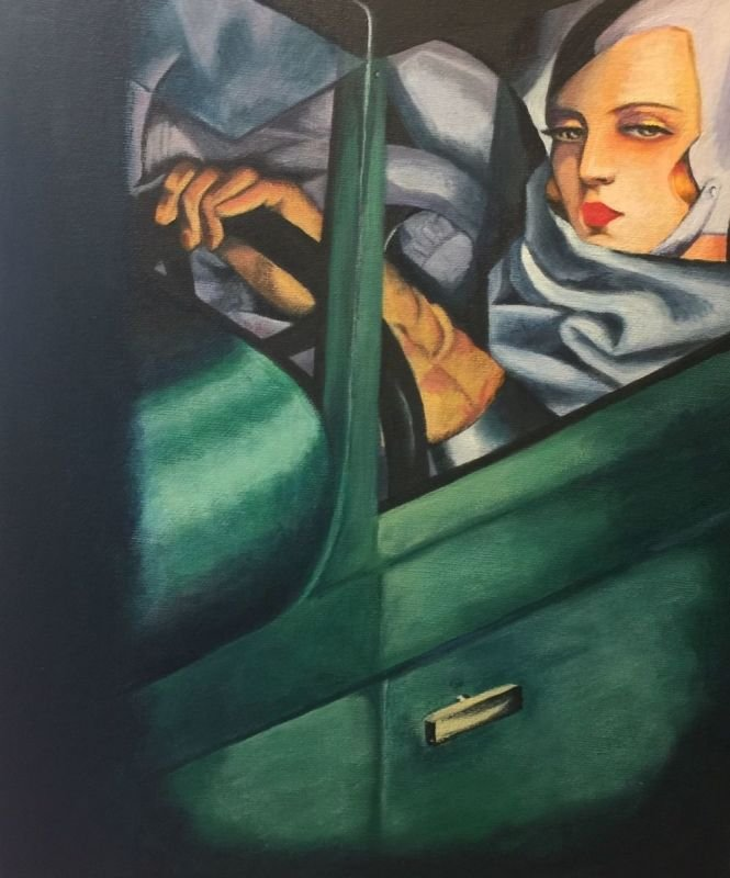 'Tamara In A Green Bugatti' (copy)