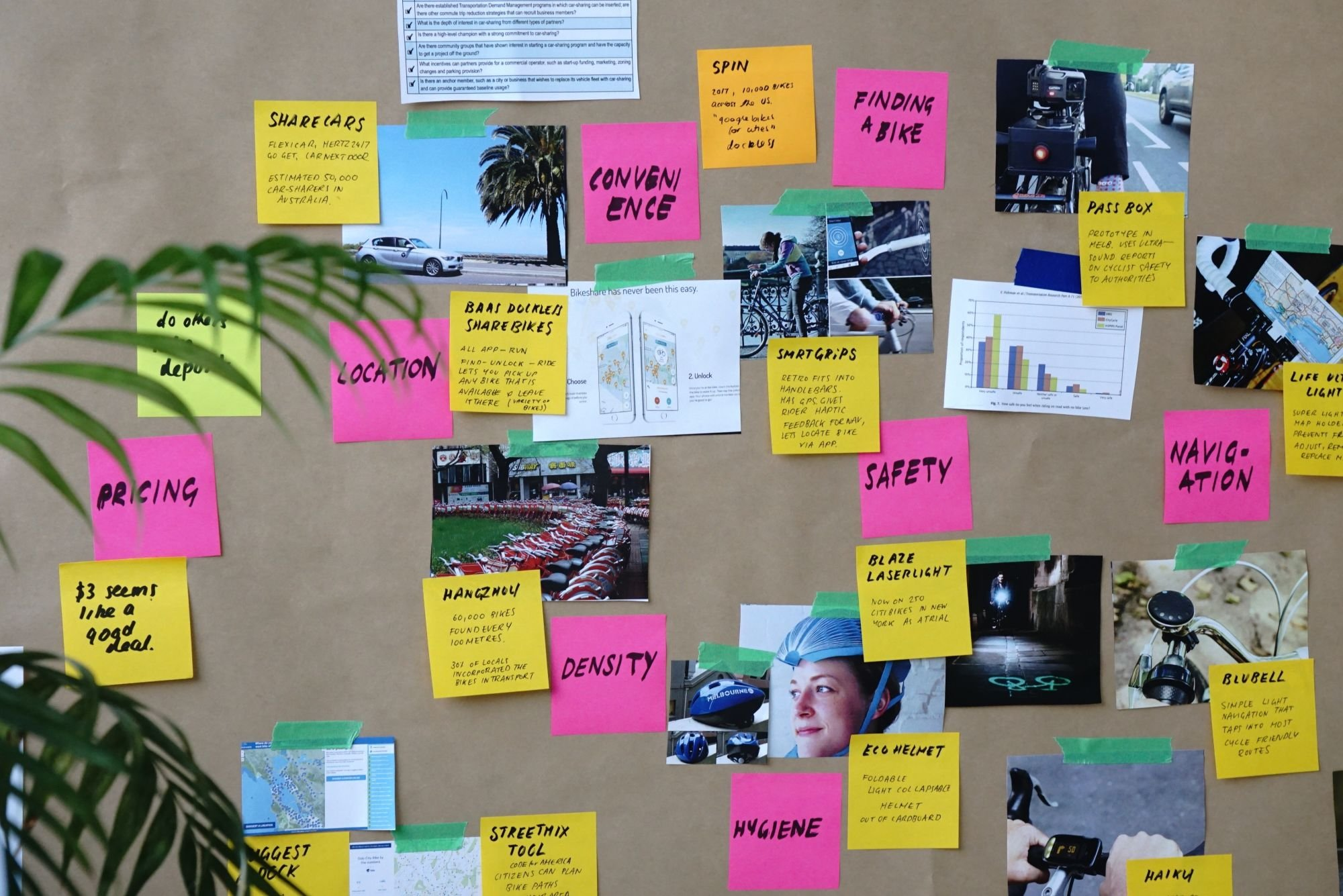 Image Ad And Creative Design Images Displayed On Pegboard For Review And Strategic Planning