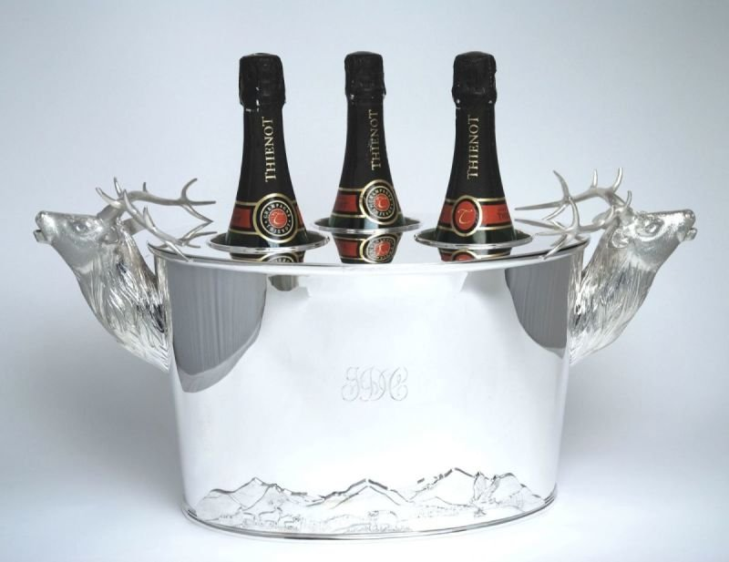 Stag head wine cooler
