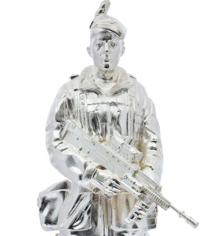 Commemorative military silver model