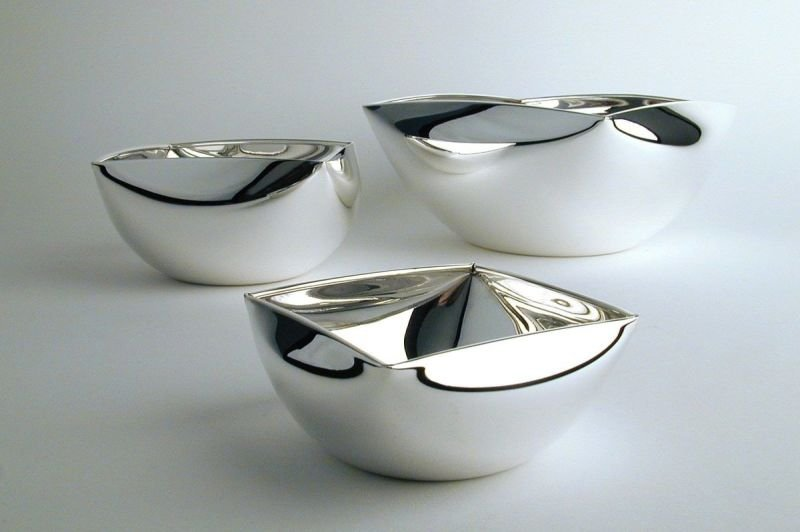 Trio of silver bowls