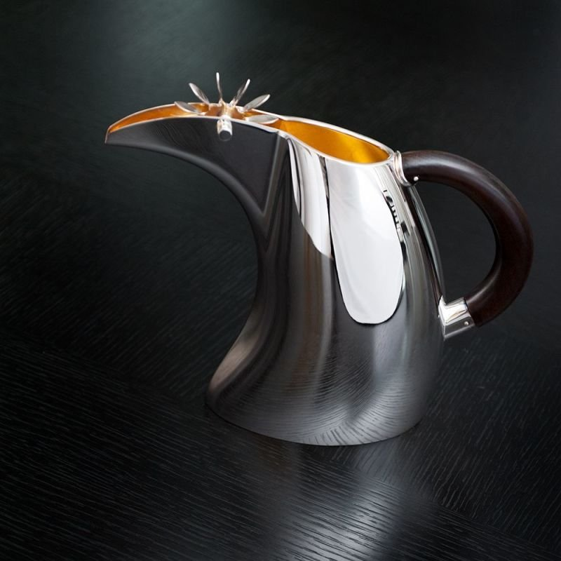 Silver Moulin water jug by De Vecchi