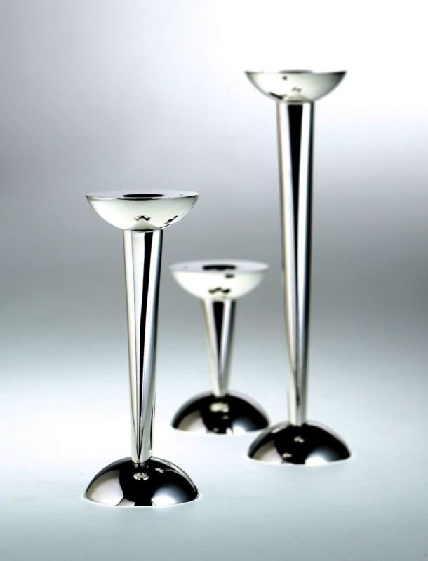 Antipodi silver candlesticks from De Vecchi