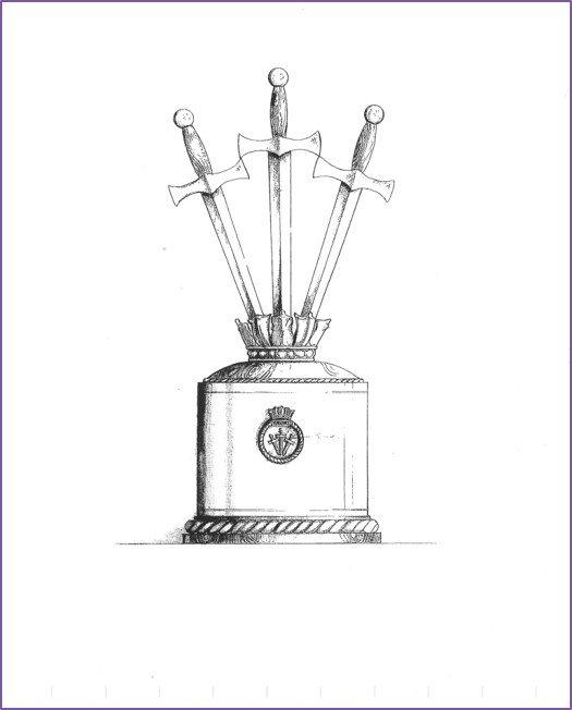 Wardroom centrepiece - artist's impression