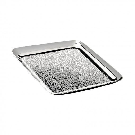 Hammered silver drinks tray