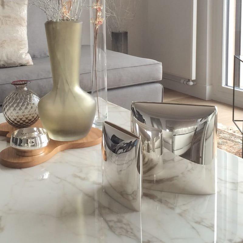 Silver Quadro vases by De Vecchi